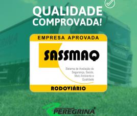 Peregrina é aprovada no SASSMAQ