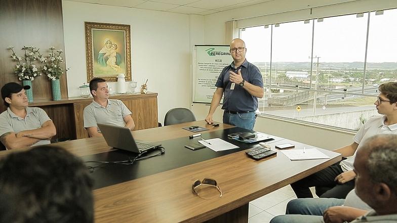 Peregrina realiza treinamento em parceria com a concessionária volvo: dicave